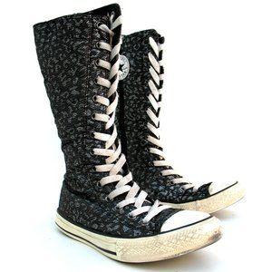 Converse All Star Junior Calf Boots Zipper Sz 2